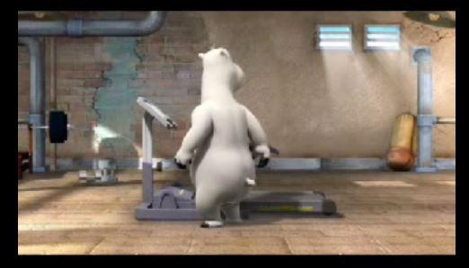 Video: Eisbär Bernard auf dem Laufband
