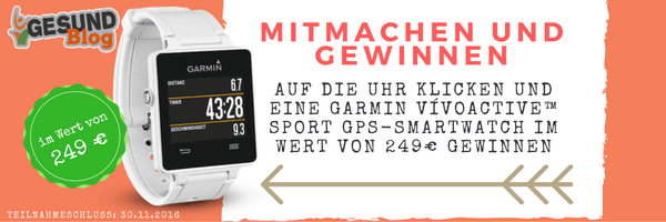 Gewinne eine Garmin vívoactive™ Sport GPS-Smartwatch