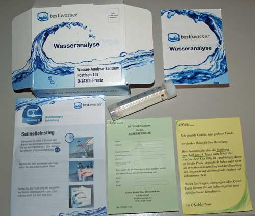 Wasseranalyse Test