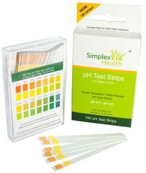Simplex Health pH Teststreifen