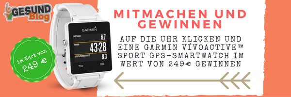 Gewinne eine Garmin vívoactive™ Sport GPS-Smartwatch im Wert von 249€!